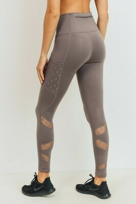 Star Mesh Zig Zag Highwaist Leggings