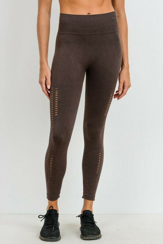 Seamless Perforated Sides Highwaist Leggings