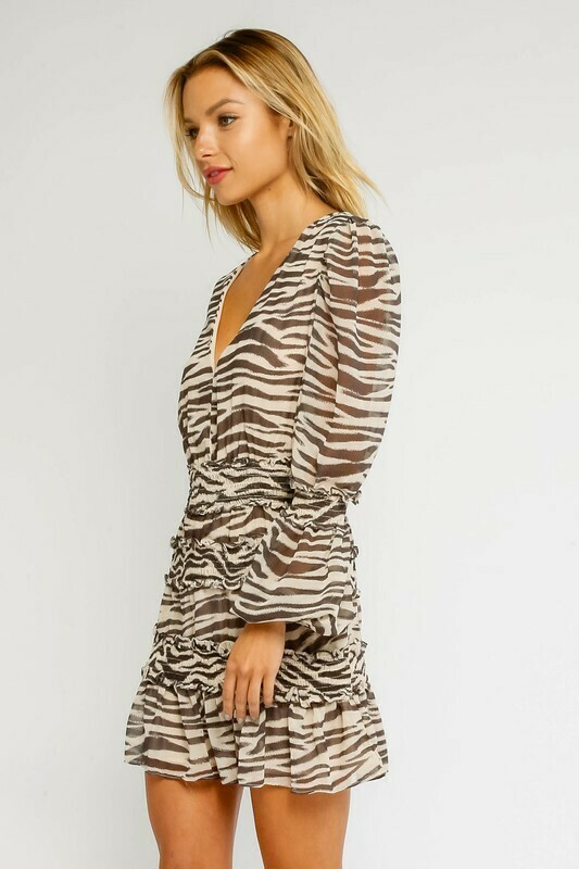 Zebra Smocked Dress