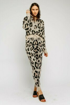 Leopard Drawstring Joggers