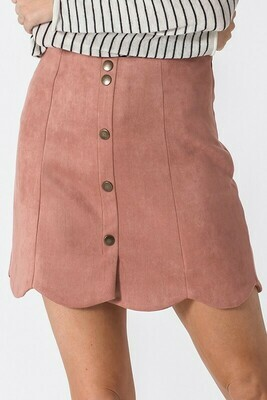 Scuba Suede Scallop Skirt