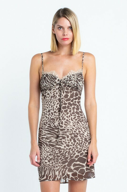 Magnolia Abstract Leopard Lace Dress