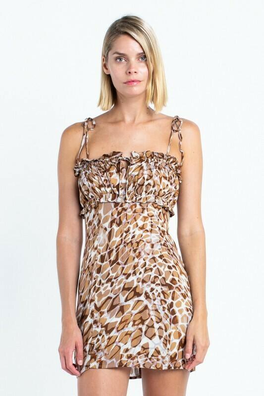 Anabella Crocodile Print Tube Dress