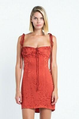 Alena Strappy Jaguar Print Dress