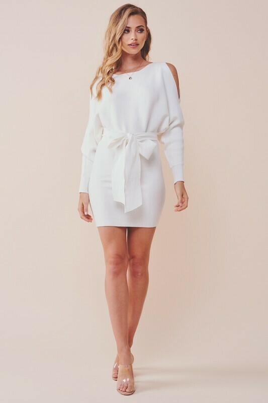 Corin Cold Shoulder Knit Dress