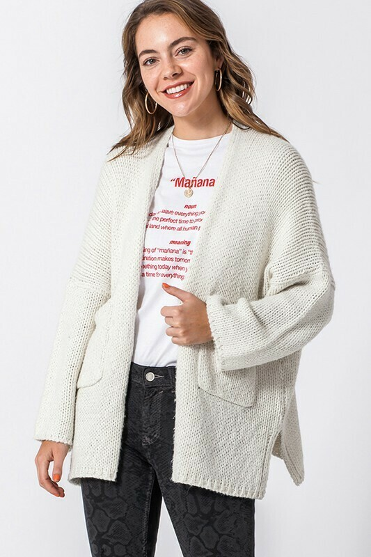 Long Sleeve Pocketed Cardigan