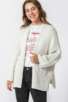 Long Sleeve Pocketed Cardigan
