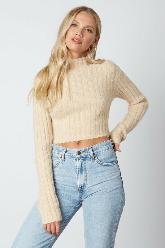 Randy Turtleneck Ribbed Sweater