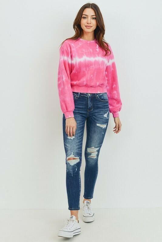 Pink Blush Tie Dye Pullover