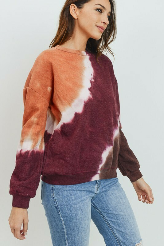 Fall Feelings Tie Dye Sweatshirt