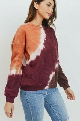 Fall Feelings Tie Dye Sweatshirt