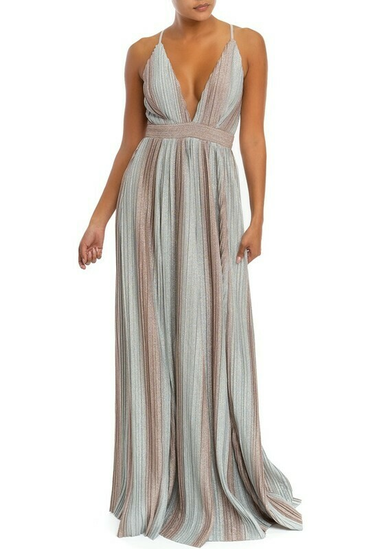 Veanna Striped Maxi Dress