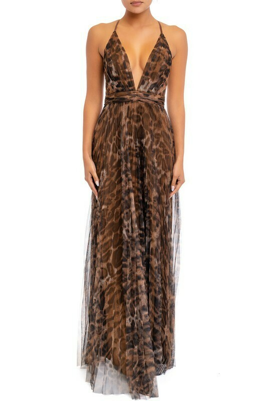 Diana Leopard Maxi Dress