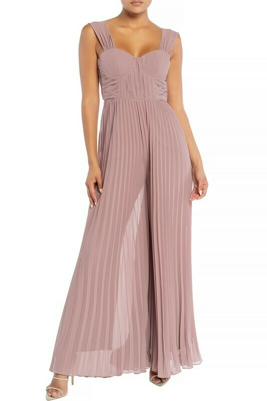 Nina Draped Pleats Jumpsuit