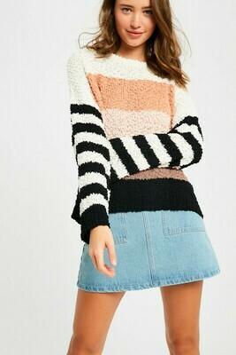 Popcorn Multi Stripe Pullover