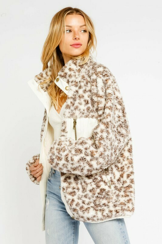 Shearling Leopard Jacket