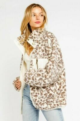 Shearling Leopard Jacket