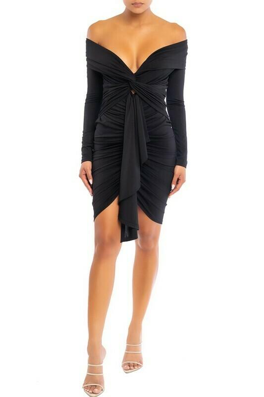 Quinn Off Shoulder Draped Dress