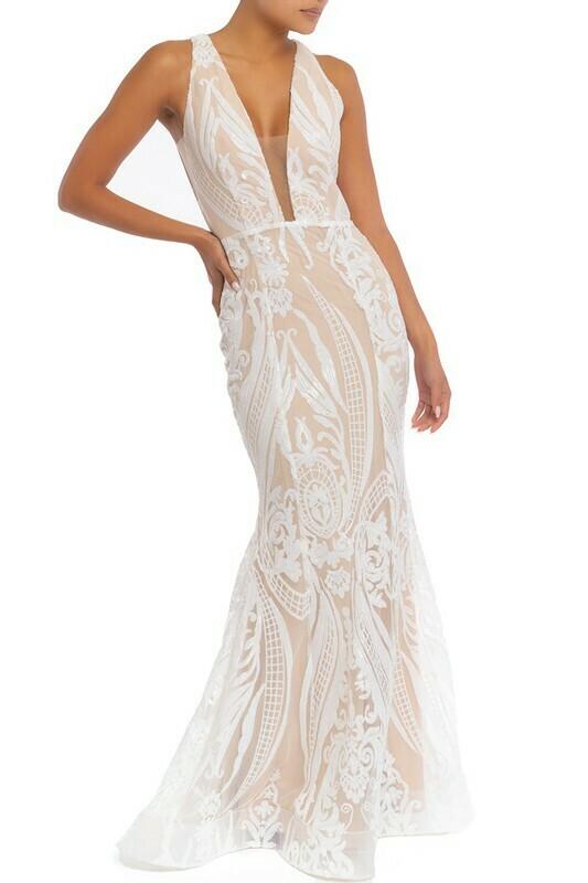 Giselle Mermaid Sequin Maxi Dress