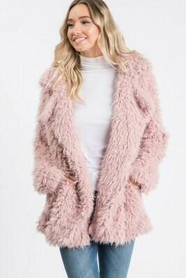 Long Sleeve Fuzzy Jacket