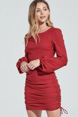 Sydney Side Shirring Dress