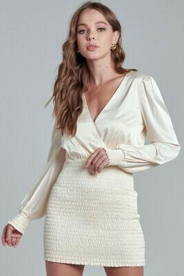 Bianca Satin Smocked Dress