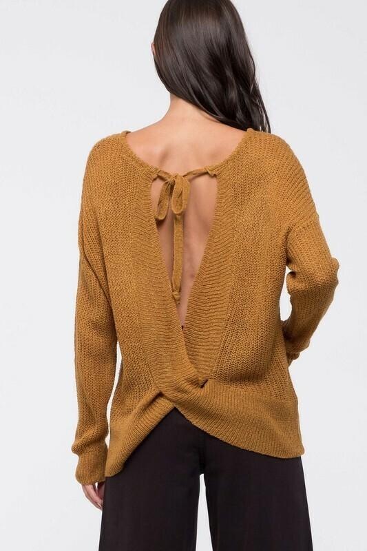 Back Twist Sweater