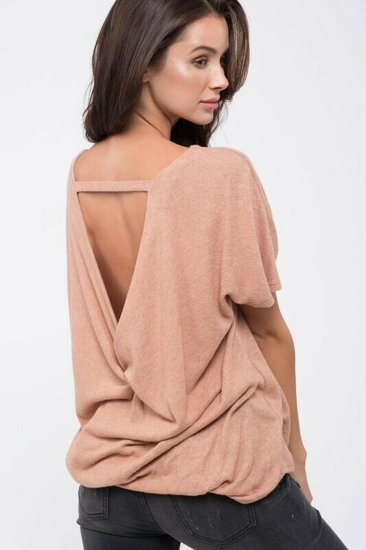 Twist-Back Knit Top