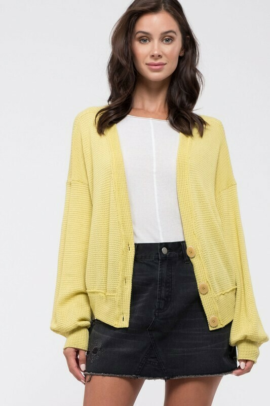 Button-Down Knit Cardigan