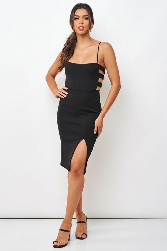 Side Slit Bodycon Dress