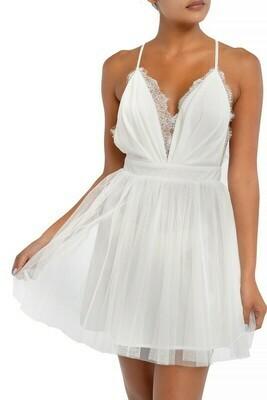 Mesh Lace Mini Dress