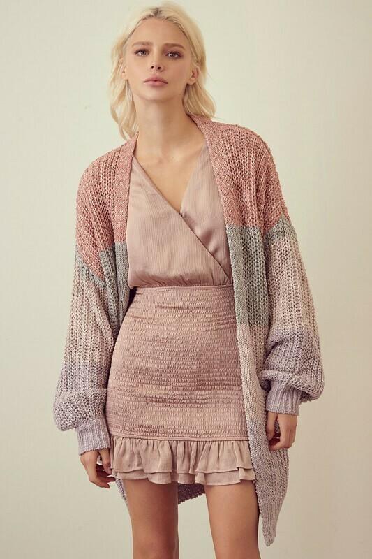 Pastel Sequin Block Cardigan