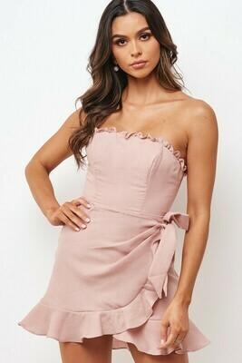Linen Ruffle Dress