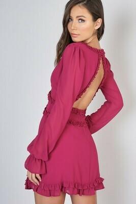 Ruffled Open Back Dress