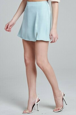 Satin Slit Skirt