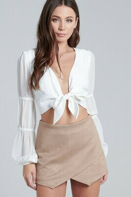 Bubble Sleeve Tie Top