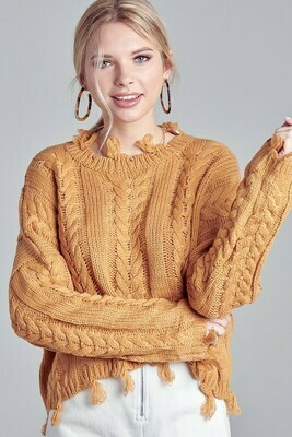 Fringe Detail Sweater