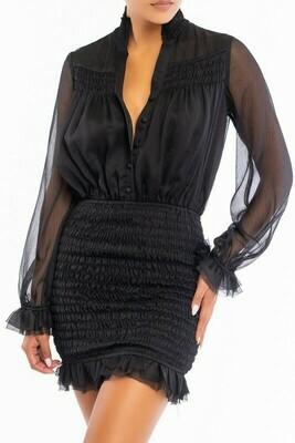 Monica Smocked Festive Dress
