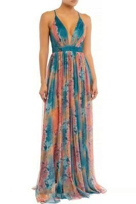 Tie Dye Mesh Maxi Dress