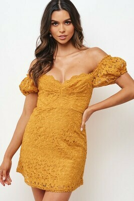 Lace Sweetheart Off Shoulder Dress