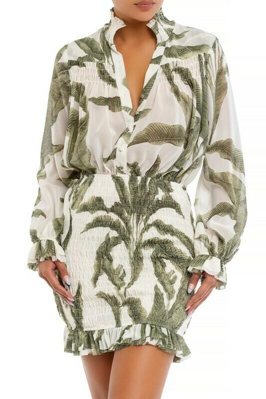 Palm Scrunch Dress