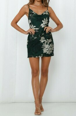 Cowl Neck Floral Dress