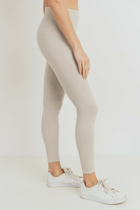 Ribbed Essential Seamless Melange Leggings