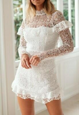 Floral Lace Open Back Dress