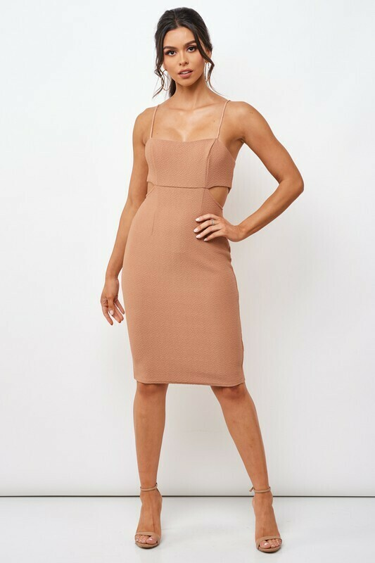 Bodycon Textured Midi Dress
