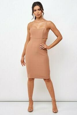 Bodycon Textured Midi Dress