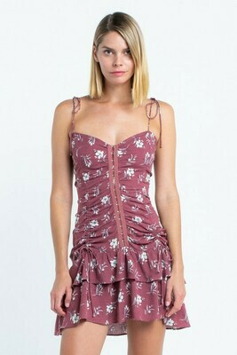 Hook & Eye Plum Dress