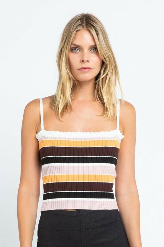 Stripe Knit Sweater Tank