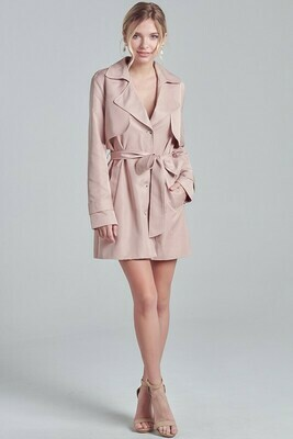 Trench Coat Waist Tie Dress