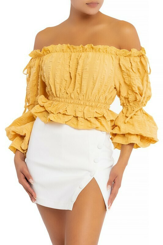 Textured Crinkle Blouse